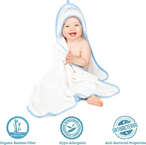 Ernestiny Organic Bamboo Hooded Towel for Babies - (6- Pc....
