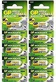 GP Batteries pila de 12V modelo 23A / A23 / MN21 / V23GA (Pack de 10)