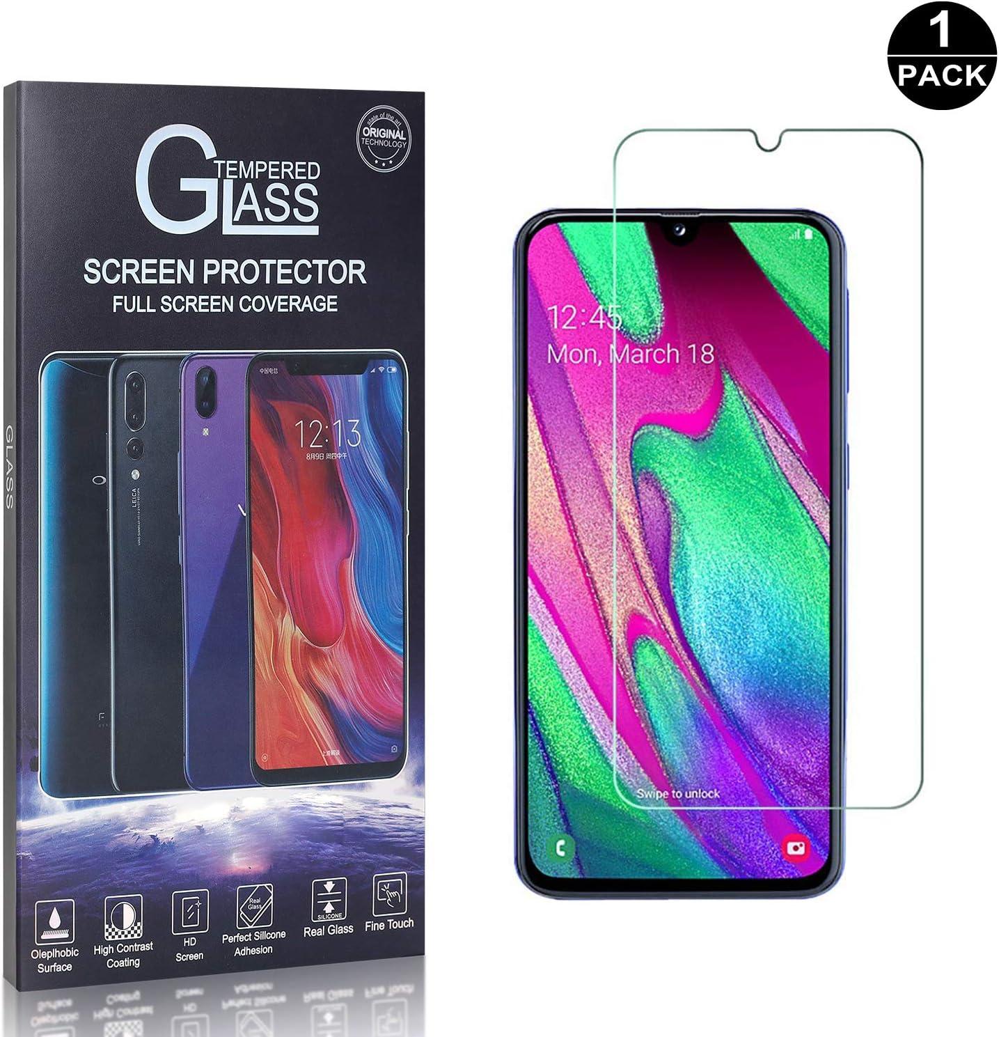 Bear Village/® Galaxy A40 Ultra R/ésistant Protection en Verre Tremp/é /Écran Sans Traces de Doigts 3D Touch Verre Tremp/é pour Samsung Galaxy A40 1 Pi/èces