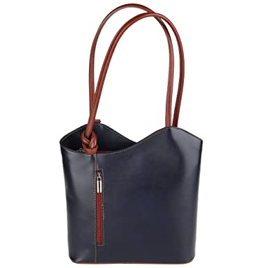 4cd5498d5e884 Chicca Borse Shoulder Bag Borsa da Donna a Spalla in Vera Pelle Made in  Italy 28x30x9 Cm  Amazon.it  Abbigliamento