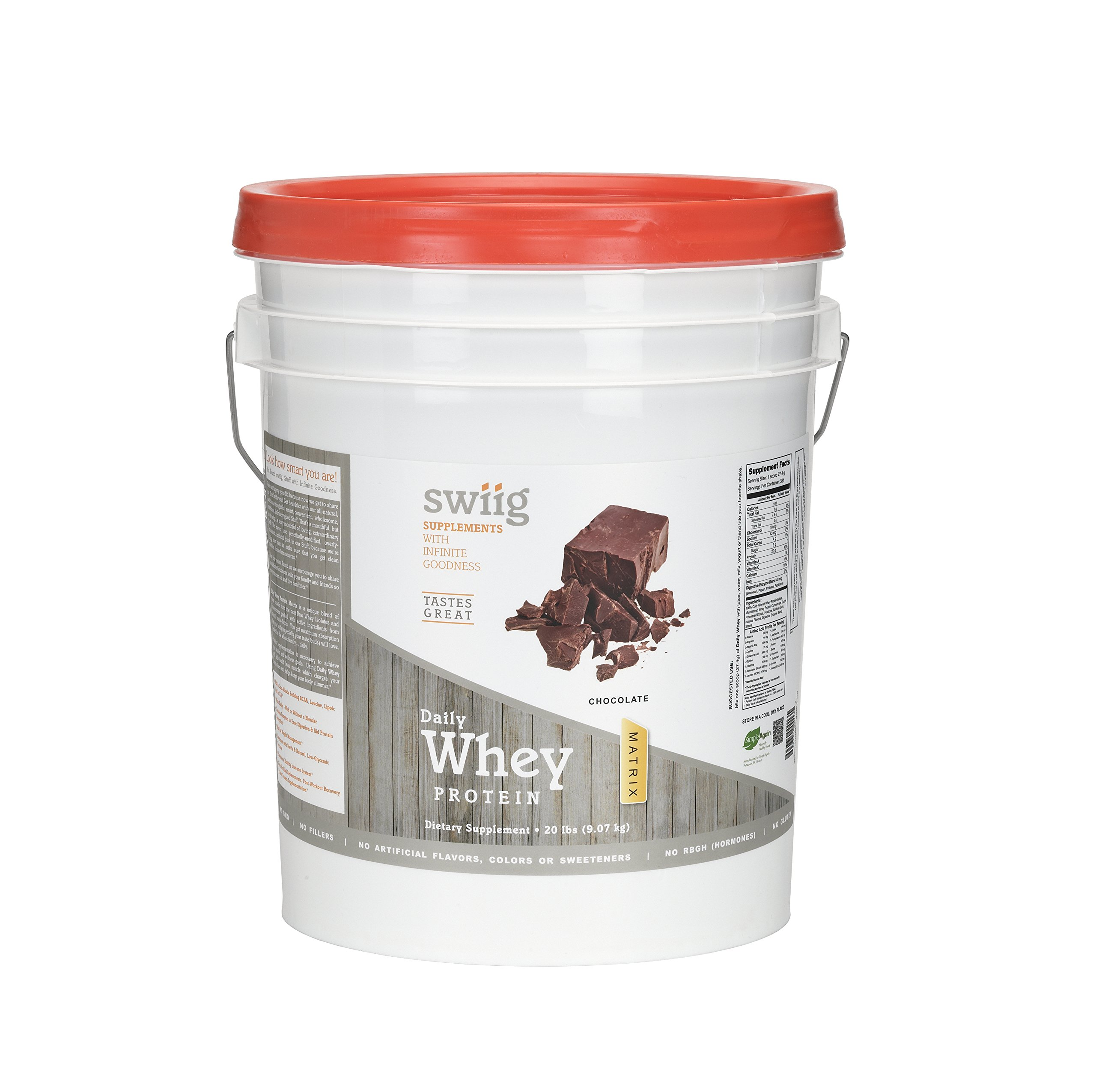 swiig Chocolate Whey Protein Matrix 20 lbs