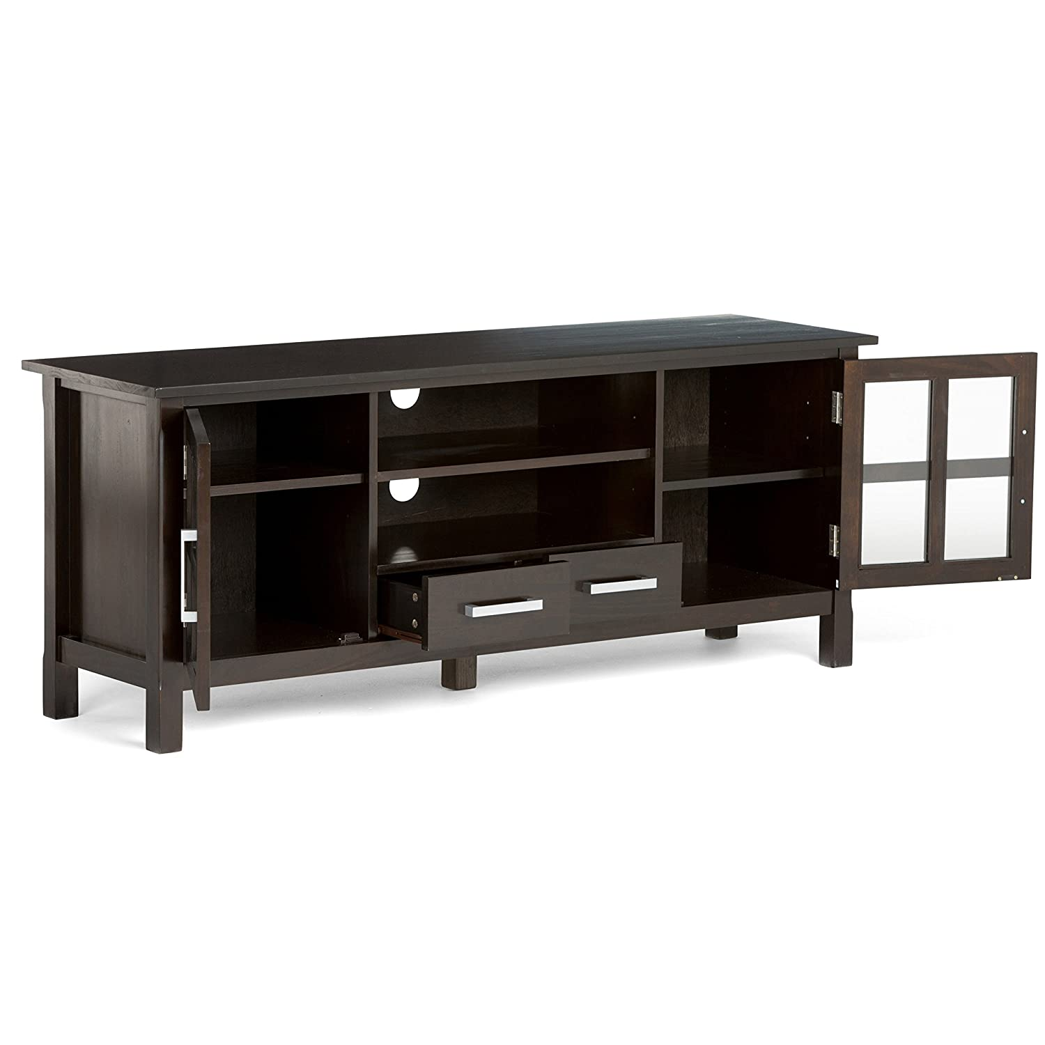 Furniture Warehouse Kitchener Amazoncom Simpli Home Kitchener Tv Media Stand For Tvs Up To 66