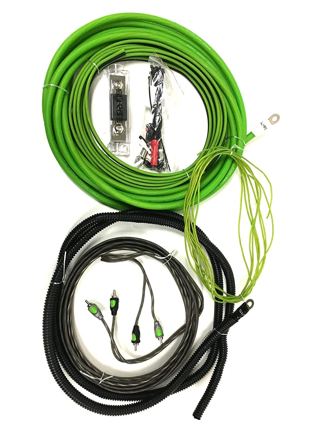 Surge F 8 Flo Series Gauge 800w Awg Amplifier 1500w 8ga Car Audio Subwoofer Amp Wiring Fuse Holder Wire Installation Install Kit Envy Green Cell Phones Accessories