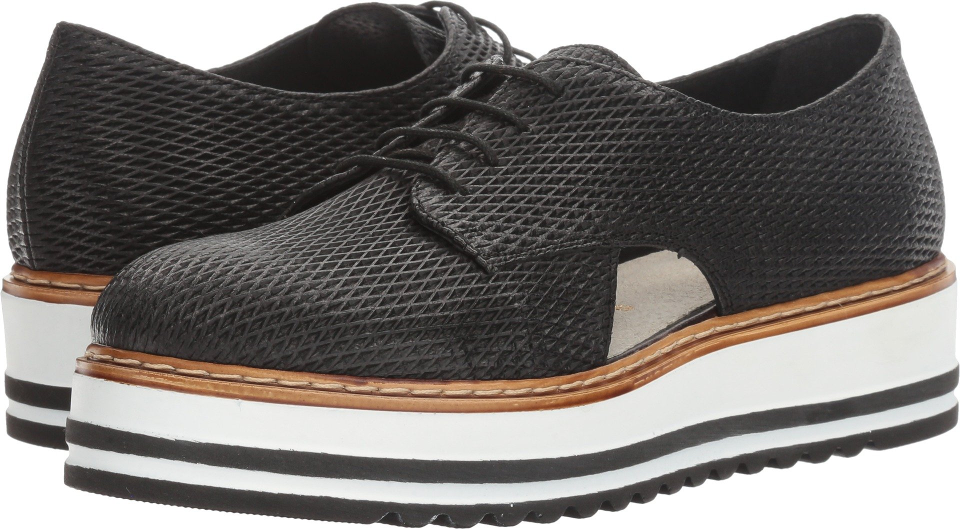 Summit by White Mountain Women's Brody Black Textured Leather 41 M EU by White Mountain