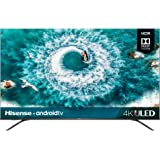 Hisense 4K Ultra HD Android Smart LED TV 55 pulgadas Prime Video Netflix Navegador más Aplicaciones (Renewed)