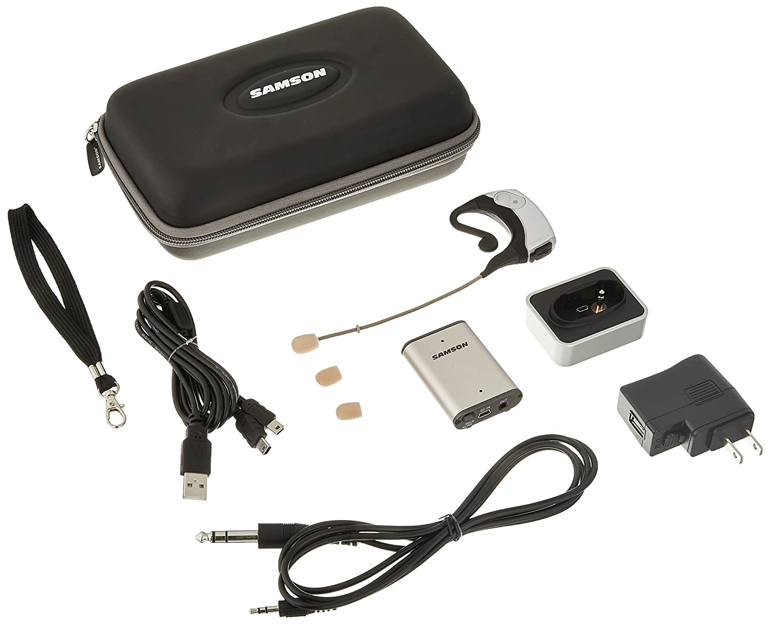 Samson AirLine Micro Earset Wireless System with Water-Resistant Micro Earset Transmitter (Channel K1)