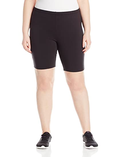 822902f5c17ec2 Just My Size Women's Plus-Size Stretch Jersey Bike Short at Amazon ...