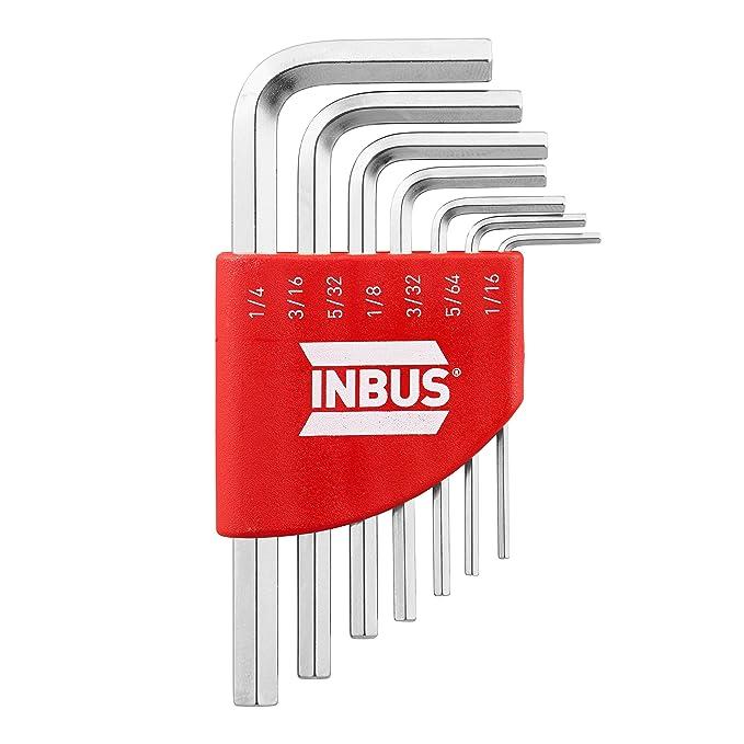 """1 opinioni per INBUS® 70389 Set in pollici di chiavi a brugola / serie 7pz corta. 1/16-1/4""""  """