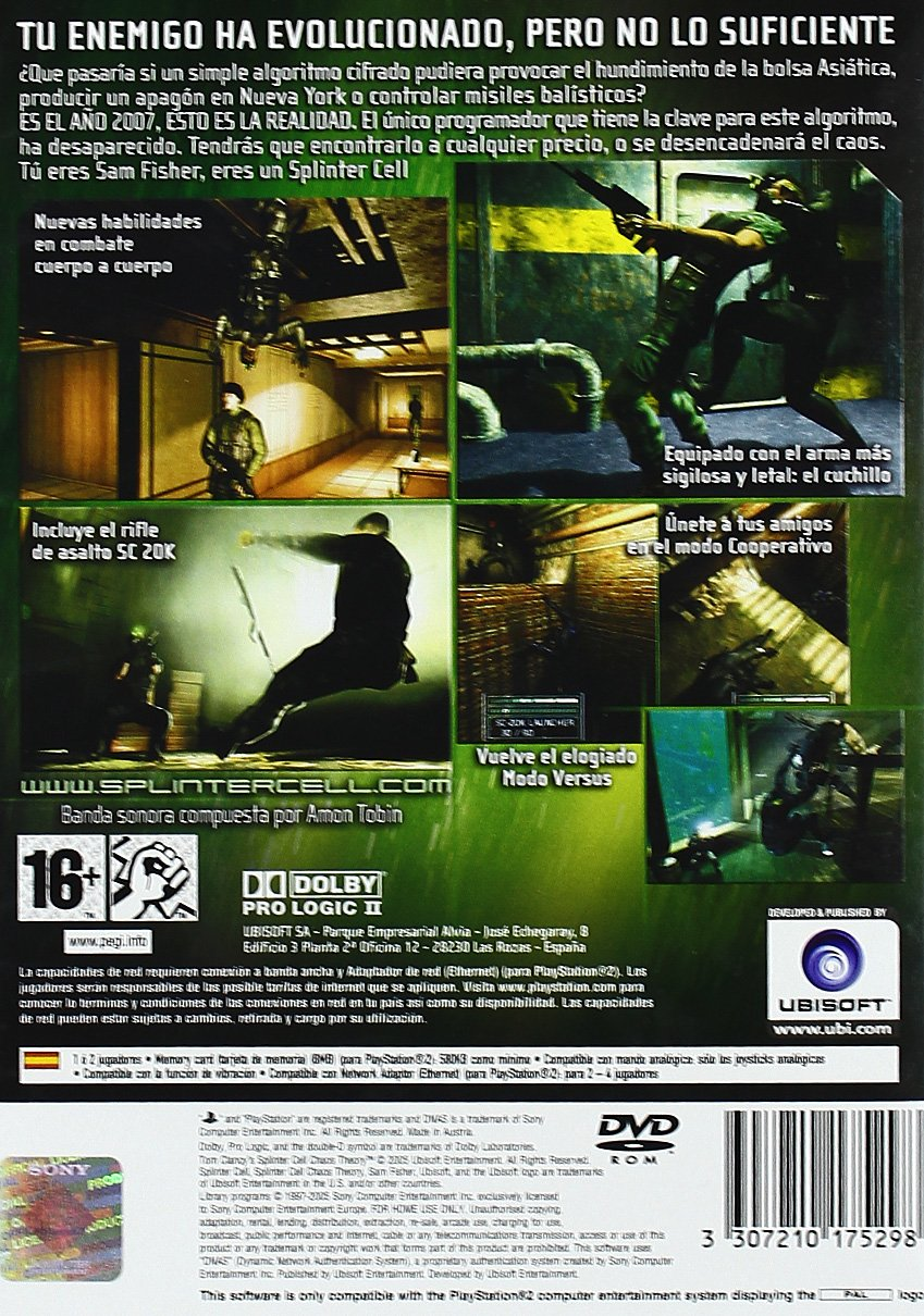 Splinter Cell: Chaos Theory: Amazon.es: Videojuegos