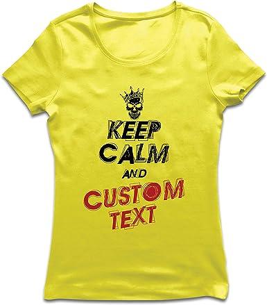 lepni.me Camiseta Mujer Diseño Texto Personalizado Keep Calm ...