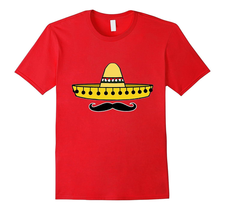 Hip Cinco De Mayo Sombrero Mustache Mexican Tee Shirt-Vaci