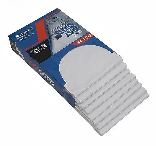 brackit dust sheet kit 8 heavy duty 9x12ft protective furniture covers u2013 lightweight durable