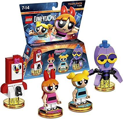 Amazon Com Lego Dimensions Building Toy Pack Powerpuff Girls Team Pack 71346 Toys Games