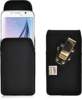 product image for Turtleback Holster Compatible with Galaxy S6 S6 Edge, Belt Clip Case, Rotating Belt Clip, Black Nylon Pouch, Heavy Duty Made in USA