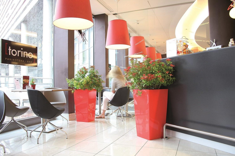 wetterfest UV-best/ändig sto/ßfest mit Pflanzeinsatz Hochglanz Blumentopf Urbi Squar 11,4 Liter Inhalt 37,5cm anthrazit grau