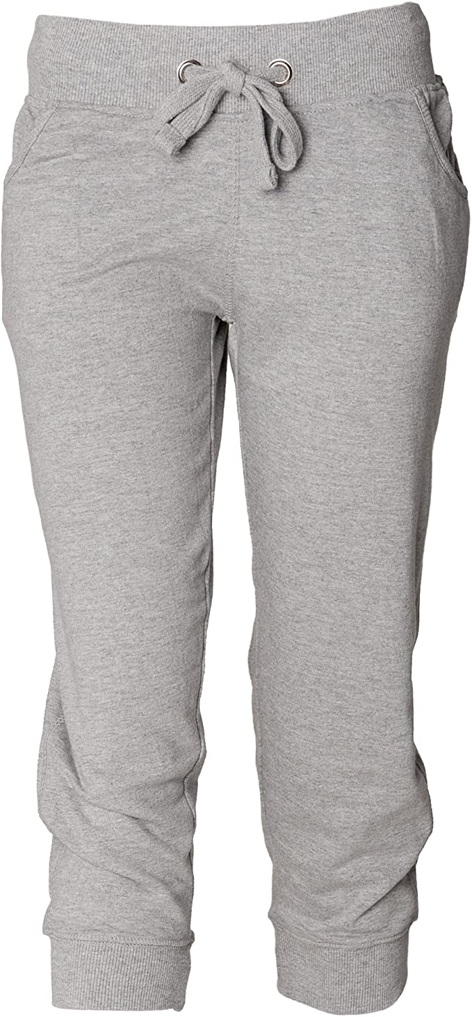 Skinni Fit - Pantalones de chándal 3/4 para mujer (Grande (L)/Gris ...