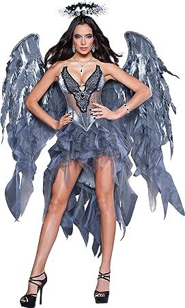 Disfraz ángel demonio mujer Premium - L: Amazon.es: Juguetes y juegos