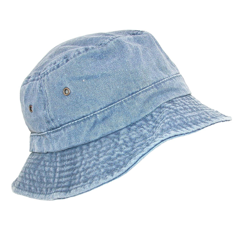 Dorfman Pacific Unisex Cotton Packable Summer Travel Bucket Hat, Small/Medium, Navy