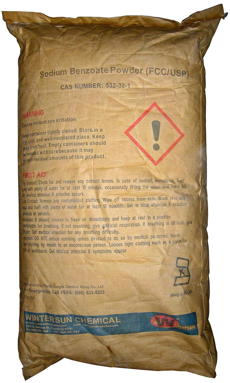 Sodium Benzoate [NaC7H5O2] [CAS_532-32-1] 99+% FCC/USP Grade, White Crystaline Powder (50 Lb Bag) by Wintersun Chemical