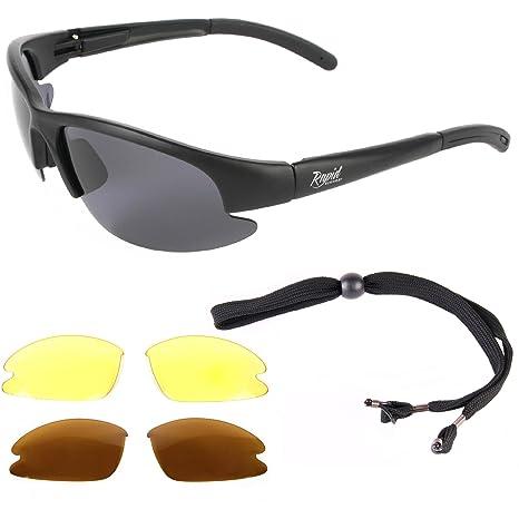 nuovo stile 9a845 9e8ff Rapid Eyewear Catch Pro OCCHIALI DA SOLE E PESCA POLARIZZATI con lenti  intercambiabili. Ideale per pesca a mosca, carpa, trota, salmone e mare