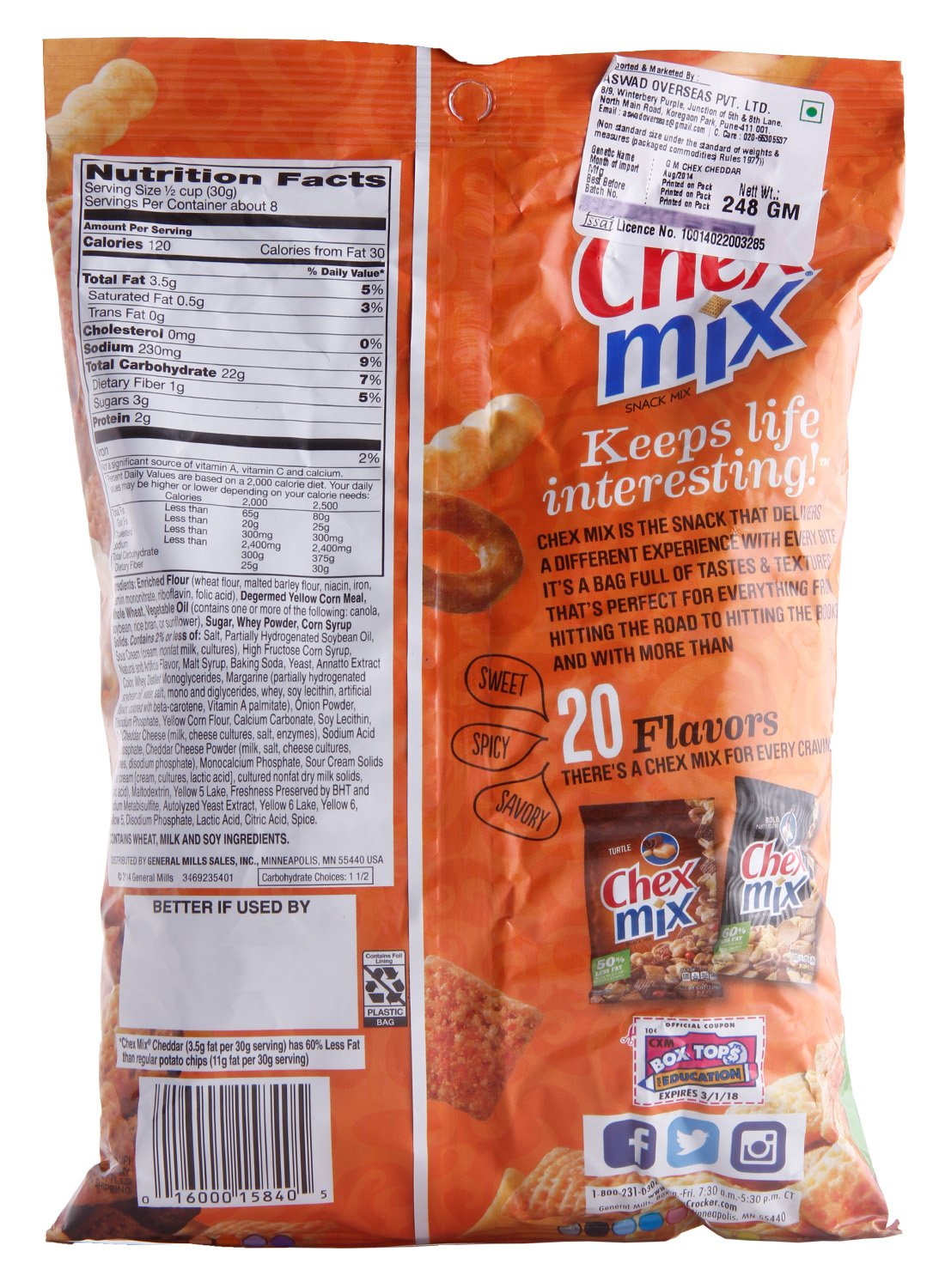 Chex Mix Chex Snack Mix - Cheddar, 8.751-Ounce Bags (Pack of 12) by Chex Mix (Image #3)
