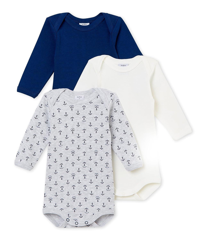 Petit Bateau Baby-Jungen Formender Body, 3er Pack 4371300