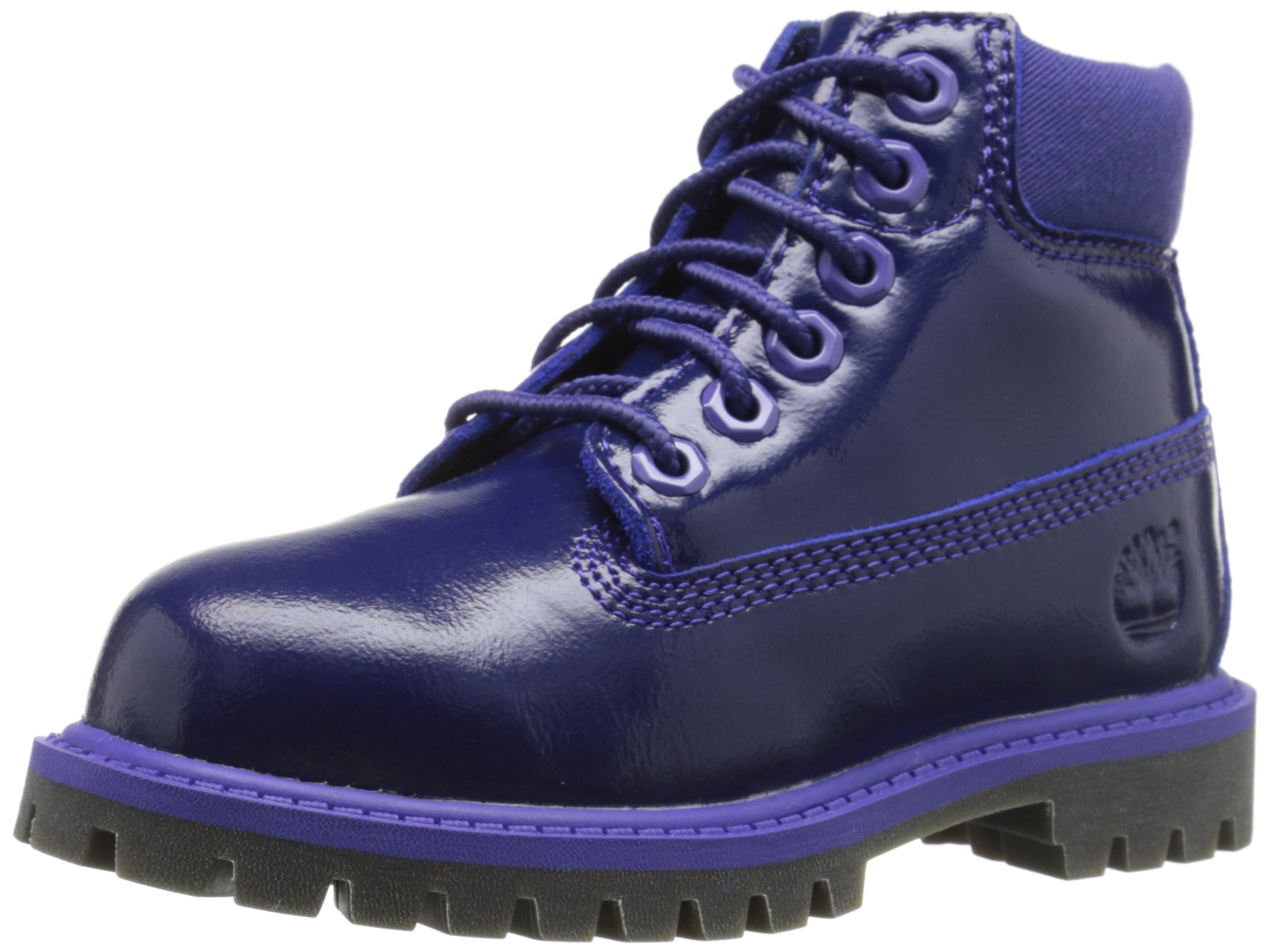 Timberland 6'' Premium Waterproof Boot, Purple Shine, 7 M US Toddler