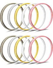 Pangda 5 Pairs Shirt Sleeve Holders Anti-slip Arm Sleeve Garters Metal Stretch Elastic Metal Armbands