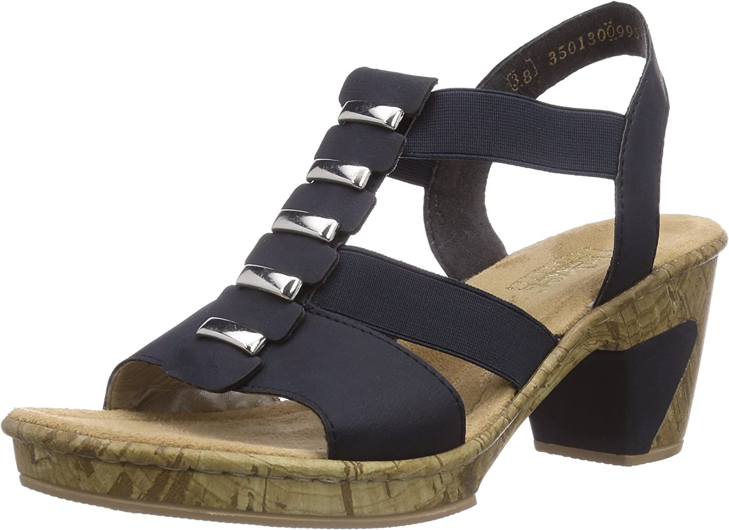 Rieker 69792 Women Open Toe, Damen Sandalen
