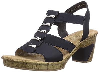 attraktive Designs zuverlässigste jetzt kaufen Rieker womens Pantoletten, Sandalen blau, 910669-5, Gr 36 ...