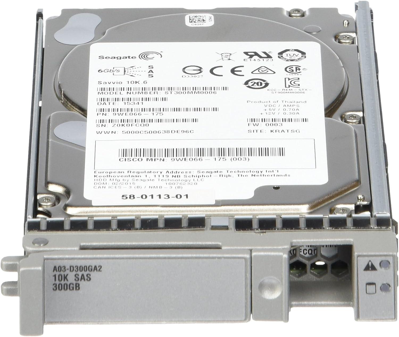 Used Cisco A03-D300GA2 300GB SAS 10K RPM SFF HDD hot plug 6Gbs Hard Drive