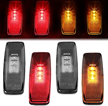 4x Clear LED Clearance Side Marker Light For Dodge 94-01 Ram 1500 Dually Fender