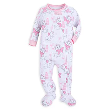 4d940f1266 Image Unavailable. Image not available for. Color  Disney Marie Footed Stretchie  Sleeper for Baby ...