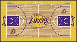 FANMATS NBA Los Angeles Lakers Nylon Face NBA Court Runner-Small