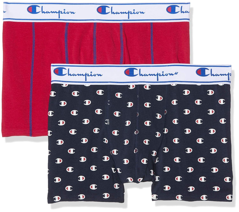 TALLA M. Champion Coton Mix Bóxer (Pack de 2 para Hombre