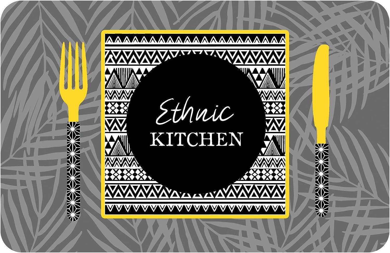 d/écorline set de table 28.5x44cm opaque ethnic kitchen