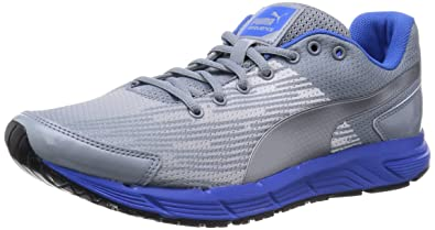 Puma Sequence Unisex Adults Running Shoes Trade Silver Blue