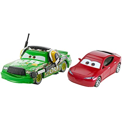 Disney Pixar Cars 3: Chick Hicks with Headset & Natalie Certain Die-cast Vehicle 2-Pack: Toys & Games