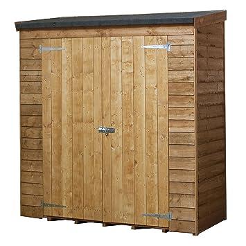 6 x 3 Cobertizo de madera para jardín. Cuenta con Puertas dobles, techo inclinado y fieltro. Cobertizos para jardín de Waltons: Amazon.es: Jardín