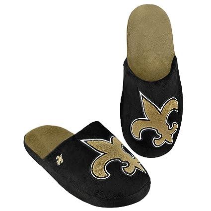 af46041ff2f1 Amazon.com   New Orleans Saints 2011 Big Logo Men Slipper Tpr Sole ...