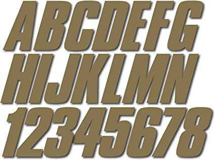 Whipline Solid Black//Tan 3 Alpha-Numeric Registration Identification Numbers Stickers Decals for Boats /& Personal Watercraft Stiffie
