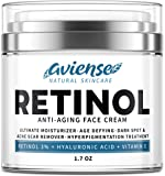 Anti-Aging Retinol Cream for Face with Hyaluronic Acid 3% - Wrinkle Cream for Face - Made in USA - Facial Moisturizer…