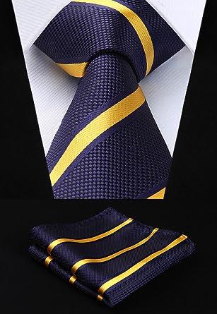 05a166a987e3e ヒスデン(HISDERN)ビジネス紺 ネクタイ セット 結婚式 ネクタイ チーフ セットネクタイ ストライプ就活