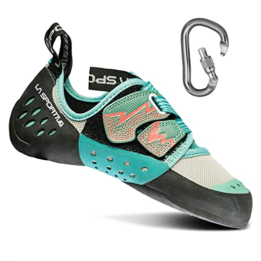 Women's Oxygym Rock Climbing Shoes w/Locking Carabiner