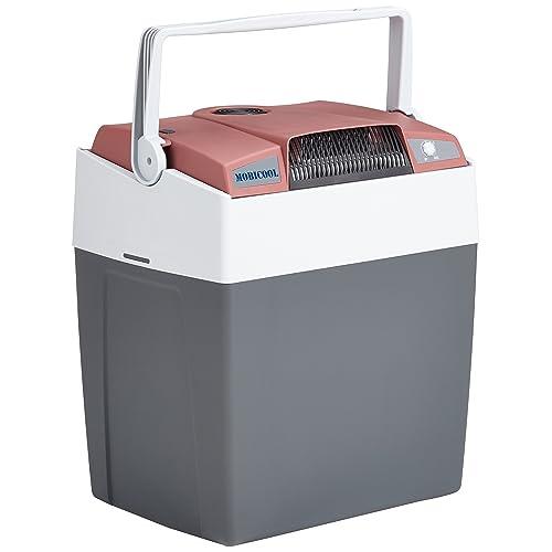 Mobicool G30 AC DC Nevera termoeléctrica portátil conexiones 12 230 V 29 litros de capacidad con USB para carga de dispositivos color rojo gris