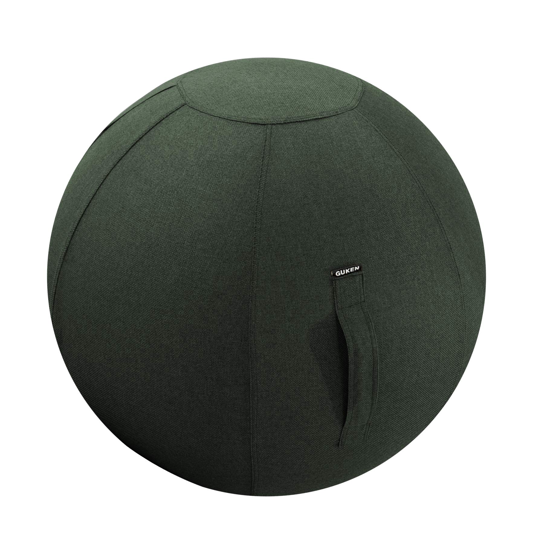 Guken Yoga Ball Cover, Sitting Ball Chair for Office and Home, Lightweight Self-Standing Ergonomic Posture Activating Exercise Ball Solution with Handle & Cover, Classroom & YogaEasy (65CM, Green)