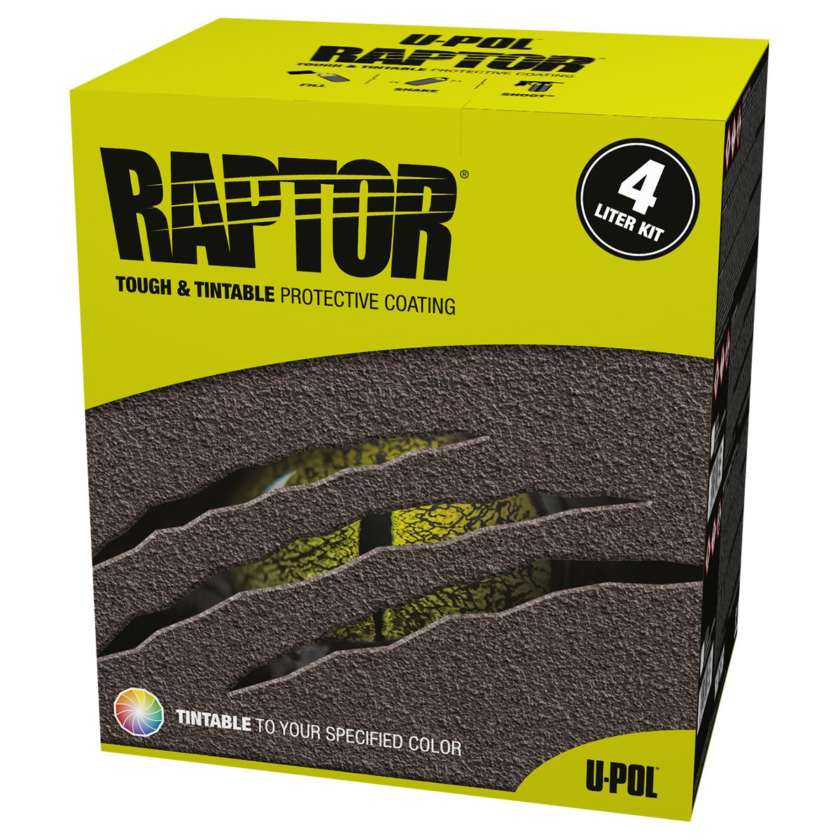 U-Pol Products RAPTOR Black Truck Bed Liner Kit - 4 Liter 0820