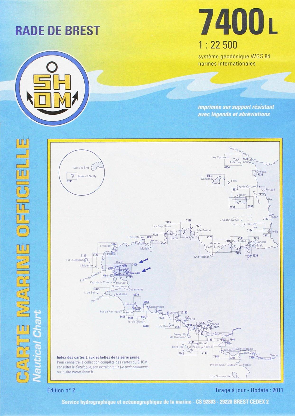 Rade de Brest Carte – 30 juillet 2003 Cartes Epshom B0000C6VP6 Bretagne - France Finistère - France