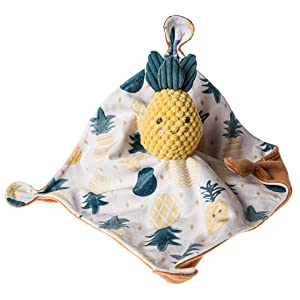 Mary Meyer Soothie Security Blanket, 10 x 10-inches, Sweet Pineapple