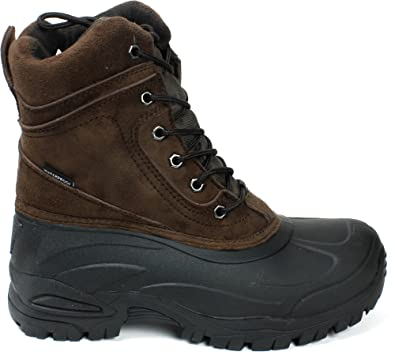 "Men's 8"" Winter Snow Boots Shoes Waterproof Insulated Lace UP (DM) 903 Brown-8.5"